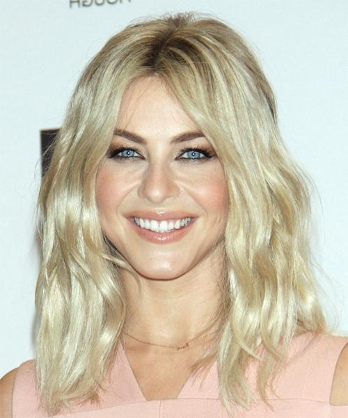 Most Popular Julianne Hough Long Hairstyles With Julianne Hough Long Wavy Casual Bob Hairstyle – Light Blonde (View 7 of 15)