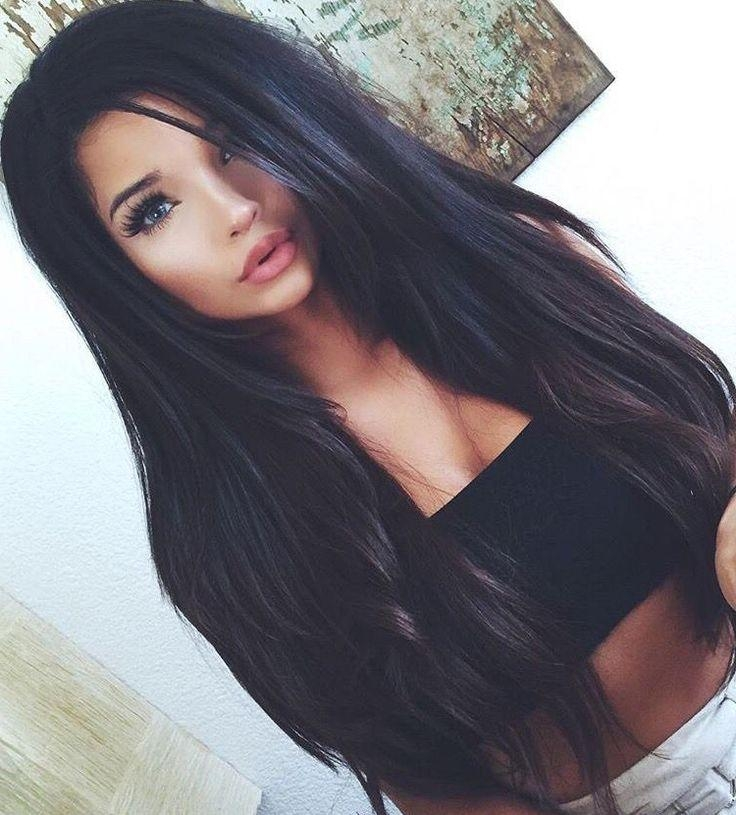 Most Popular Long Hairstyles For Black Hair With Regard To Best 25+ Long Dark Hairstyles Ideas On Pinterest | Dark Hair Red (View 13 of 20)