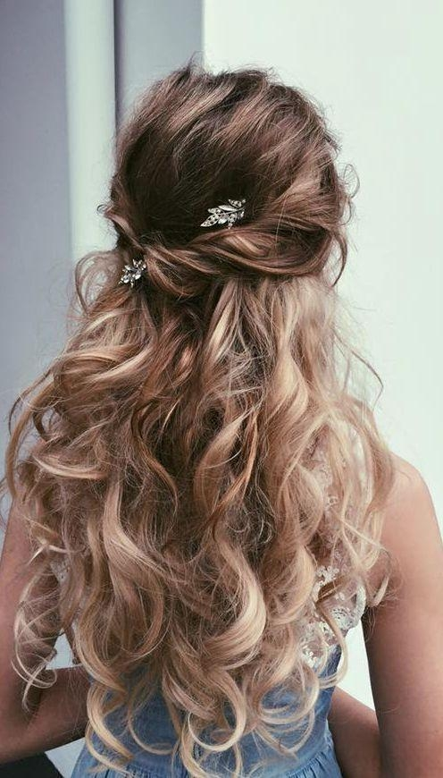 Most Popular Long Hairstyles For Brides Inside Best 25+ Long Wedding Hairstyles Ideas On Pinterest | Wedding (View 7 of 20)
