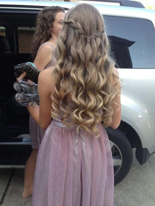 Most Popular Long Hairstyles For Dances Pertaining To Best Hairstyles ღ On | Homecoming Hair, Homecoming And Wave (View 14 of 20)