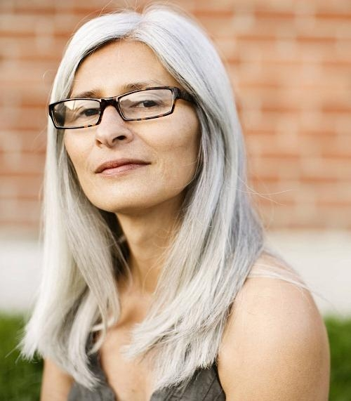 Most Popular Long Hairstyles For Girls With Glasses Within Long Hairstyles For Older Women With Glasses Images – New (View 7 of 15)