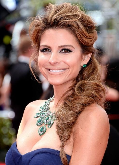 Most Popular Long Hairstyles For Night Out In Maria Menounos Long Hairstyles: Fish Braided Hairstyle For Night (View 7 of 20)