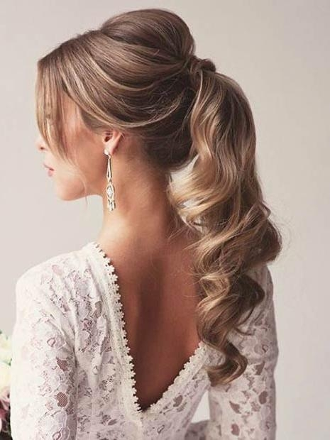 Most Popular Long Hairstyles For Special Occasions Intended For 25 Elegant Ponytail Hairstyles For Special Occasions | Page 3 Of  (View 8 of 15)