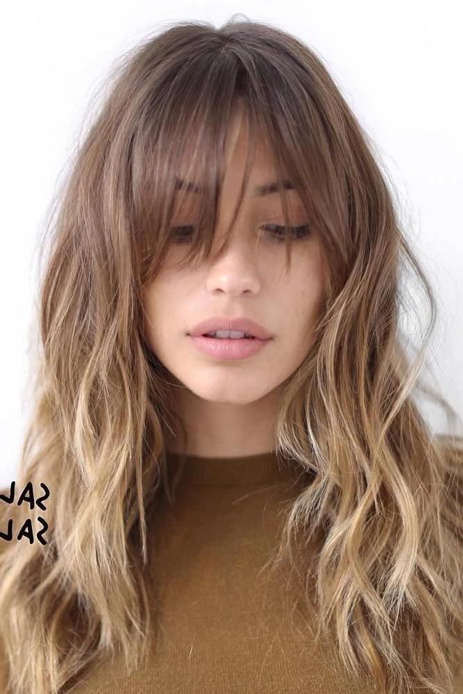 Most Popular Long Hairstyles For Women With Bangs Pertaining To Best 25+ Long Haircuts For Women Ideas On Pinterest | Choppy (View 15 of 20)