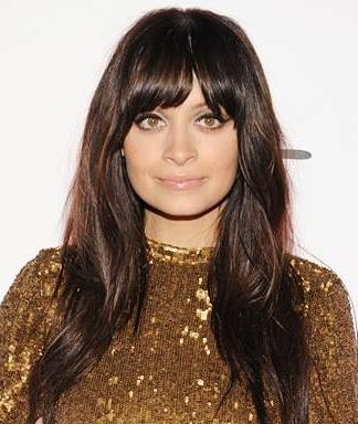 Most Popular Long Hairstyles With Straight Bangs Regarding Blunt Bangs: Spring's Hottest Accessory For Long Hairstyles (View 6 of 20)
