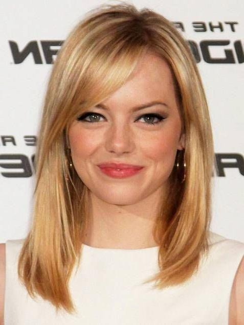 15 best of medium long haircuts with side bangs
