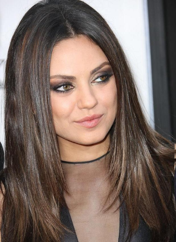 Most Popular Mila Kunis Long Hairstyles In Celebrity Hairstyles : Mila Kunis Long Layered Hairstyles (View 5 of 15)