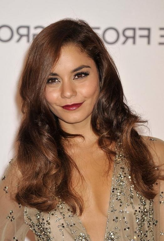 Most Popular Vanessa Hudgens Long Hairstyles Regarding Hudgens Long Hairstyle (View 11 of 20)