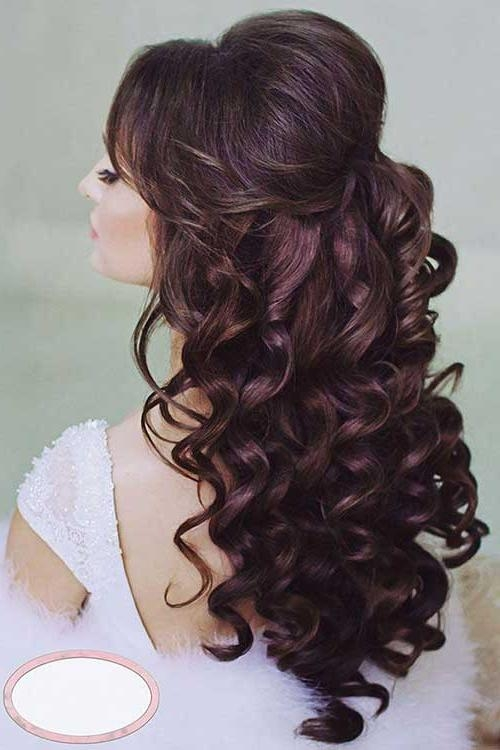 Most Popular Wedding Half Up Long Hairstyles For 15+ Half Up Half Down Bridal Hair | Hairstyles & Haircuts 2016 –  (View 9 of 20)