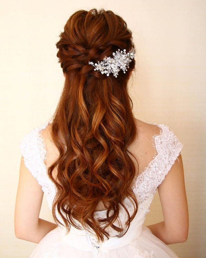 Half Up Wedding Hair Ideas: 20 Ideas Of Wedding Half Up Long Hairstyles