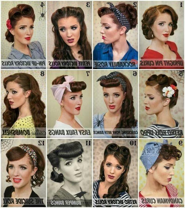 Most Recent 50S Long Hairstyles Inside 25+ Trending 50S Hairstyles Ideas On Pinterest | 1940S Hair, Diy (View 14 of 20)