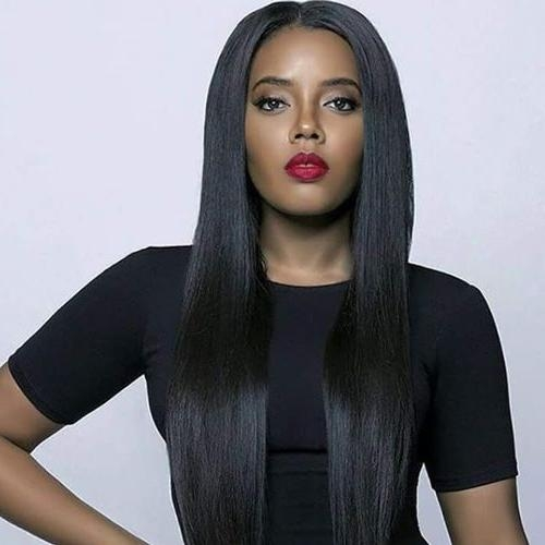 Most Recent Black Women Long Hairstyles In 20 Mejores Imágenes De The Long Hairstyles For Black Women En (View 14 of 20)