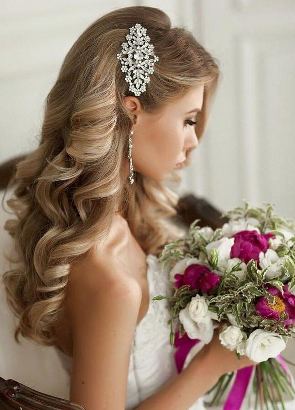 Most Recent Brides Long Hairstyles For 25+ Unique Wedding Hairstyles Ideas On Pinterest | Wedding (View 15 of 20)