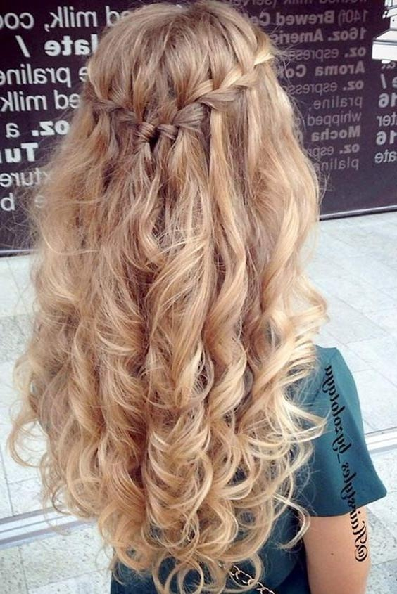 Most Recent Curly Long Hairstyles For Prom Pertaining To 25+ Unique Curly Prom Hairstyles Ideas On Pinterest | Curly (View 11 of 15)