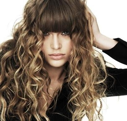 Most Recent Curly Long Hairstyles With Bangs Regarding 15 Curly Hairstyles For 2018: Flattering New Styles For Everyone (View 9 of 20)
