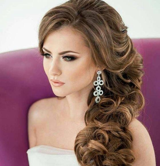 Most Recent Elegant Long Hairstyles For Weddings Pertaining To Wedding Hairstyles Elegant Long Curvy Curls (View 2 of 20)