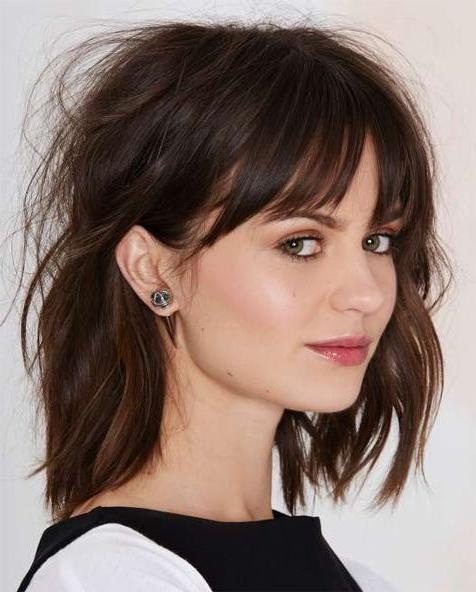 Most Recent Full Fringe Long Hairstyles With Regard To The 25+ Best Full Fringe Hairstyles Ideas On Pinterest | Hair With (View 14 of 20)