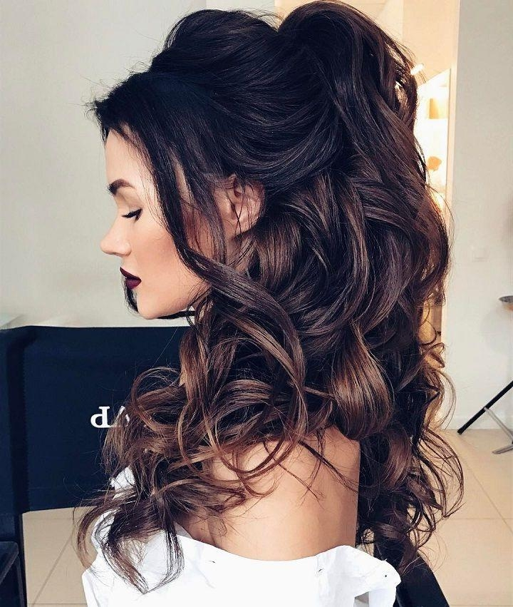Most Recent Half Up Long Hairstyles Throughout Best 25+ Half Up Half Down Ideas On Pinterest | Prom Hair Down (View 14 of 20)