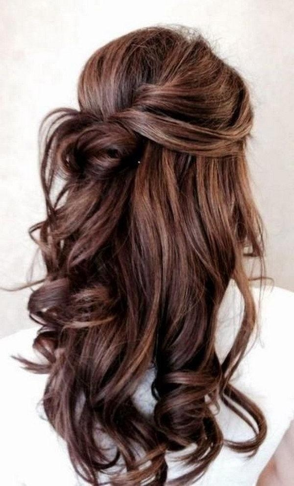 Most Recent Half Up Long Hairstyles Within Best 25+ Half Up Half Down Ideas On Pinterest | Prom Hair Down (View 15 of 20)