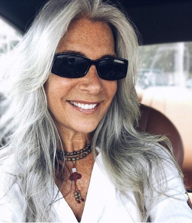 Most Recent Long Hairstyles For Gray Hair With 25+ Beautiful Long Gray Hair Ideas On Pinterest | Grey Hair Streak (View 11 of 15)