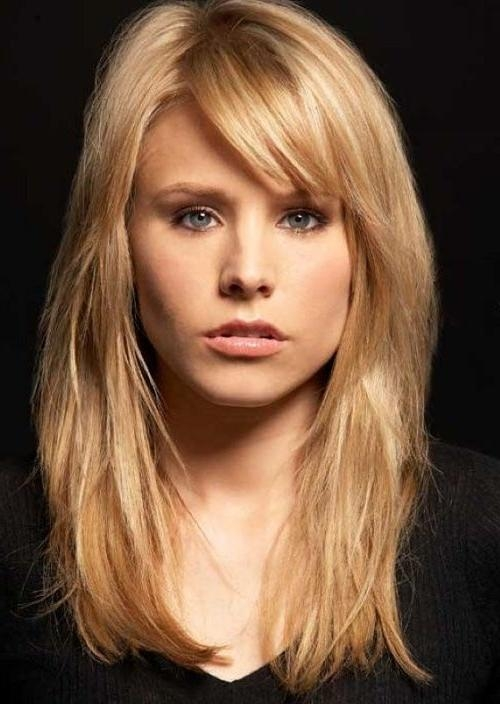 Photo Gallery Of Long Hairstyles For Square Face Viewing 16 Of 20