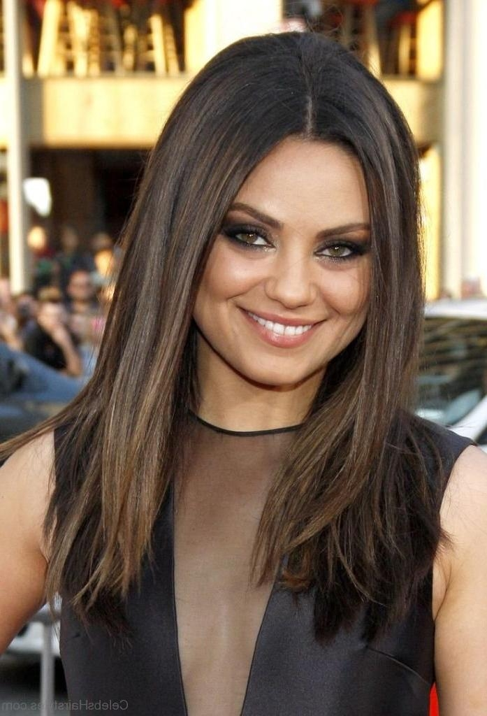 Most Recent Mila Kunis Long Hairstyles For 29 Ravishing Hairstyles Of Mila Kunis (View 9 of 15)