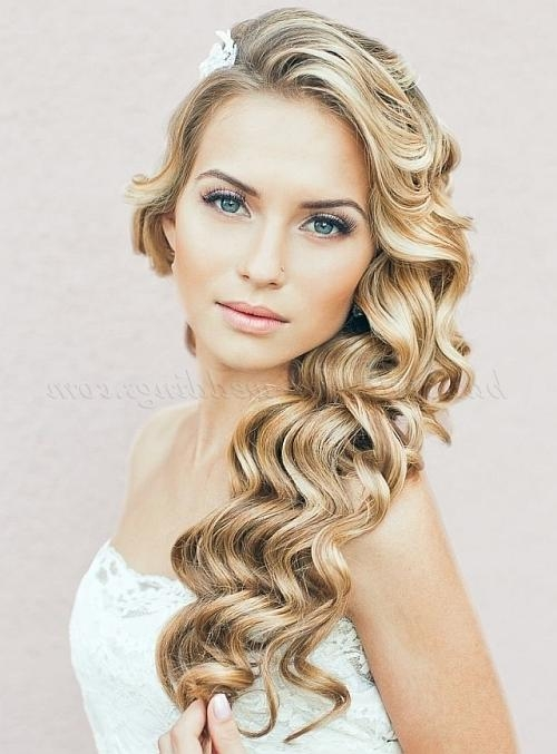Most Recent Wedding Long Down Hairstyles For Long Wedding Hairstyles – Hair Down Wavy Wedding Hairstyle (View 7 of 20)