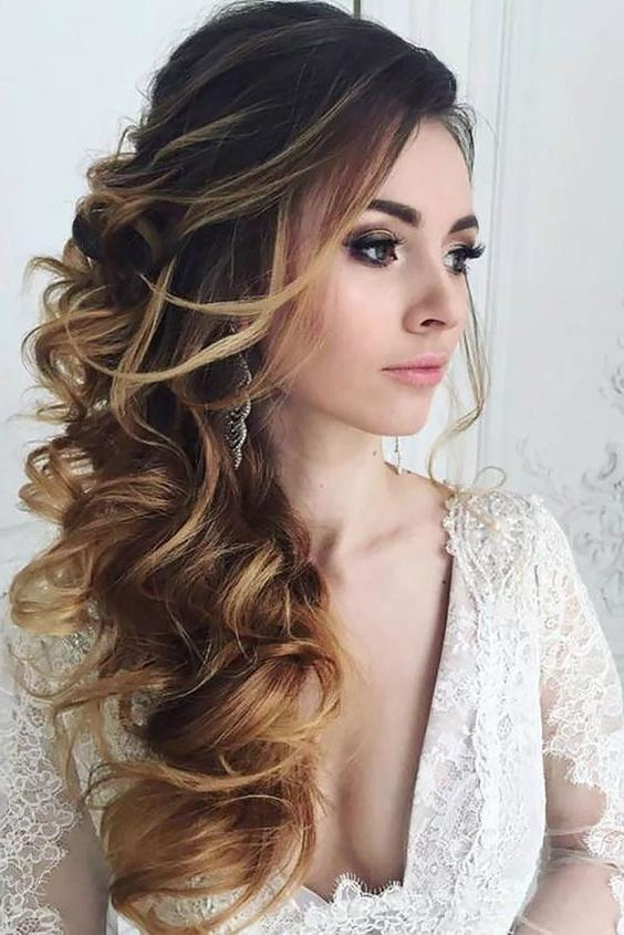 Most Recent Wedding Long Down Hairstyles Throughout Best 25+ Bridal Hairstyles Down Ideas On Pinterest | Bridal Hair (View 2 of 20)