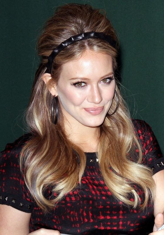 Most Recently Released 1960S Long Hairstyles With Regard To Hilary Duff 1960S Retro Hairstyle For Long Hair – Hairstyles Weekly (View 14 of 20)