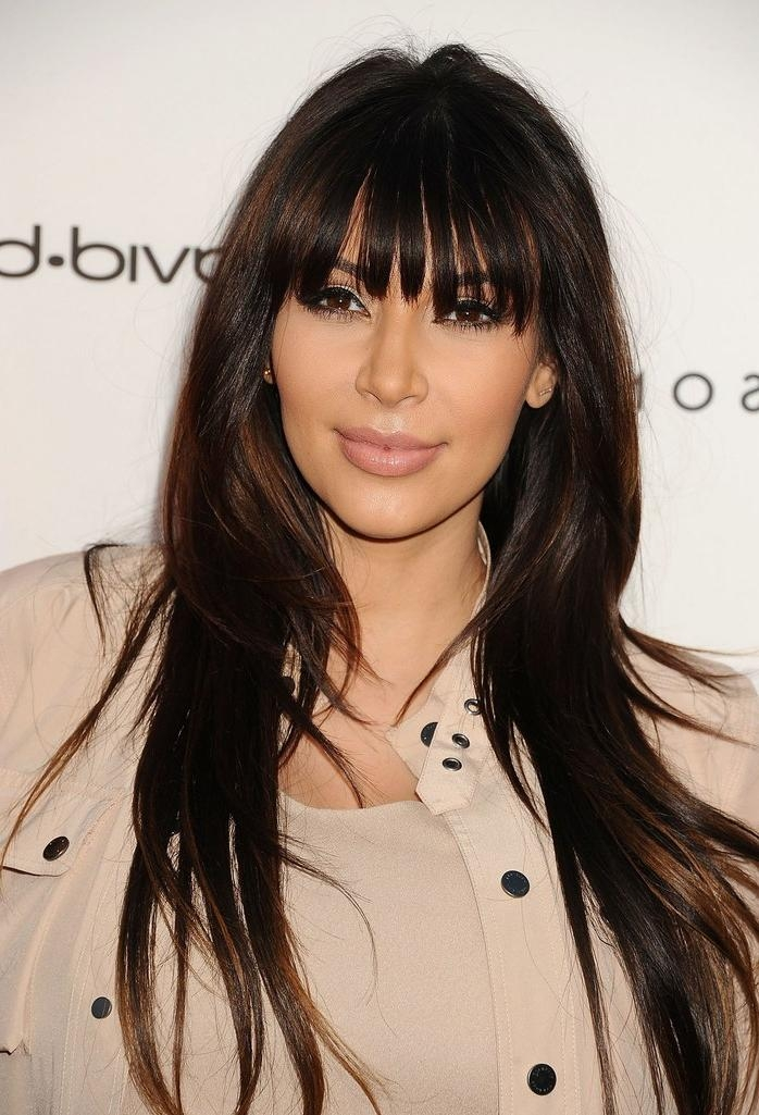 Most Recently Released Best Long Hairstyles With Bangs In 25 Celebrity Haircuts That'll Make You Want Bangs, Stat | Glamour (View 11 of 20)