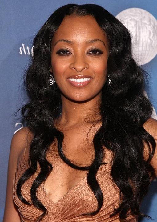 Most Recently Released Black People Long Hairstyles With Regard To Loose Curl Hairstyles For Prom 1 Long Hairstyles For Black Women (View 15 of 20)