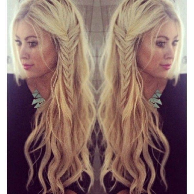 Most Recently Released Boho Long Hairstyles Intended For Waves With Side Braid Boho Hairstyles  (View 13 of 20)