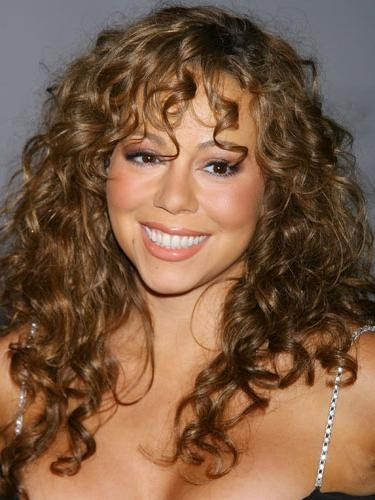 Most Recently Released Curly Long Hairstyles With Bangs With Hairstyle With Bangs Of Mariah Carey (View 12 of 20)