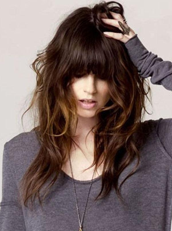 Most Recently Released Cute Long Haircuts With Bangs And Layers Intended For 25+ Trending Layered Haircuts With Bangs Ideas On Pinterest (View 5 of 15)