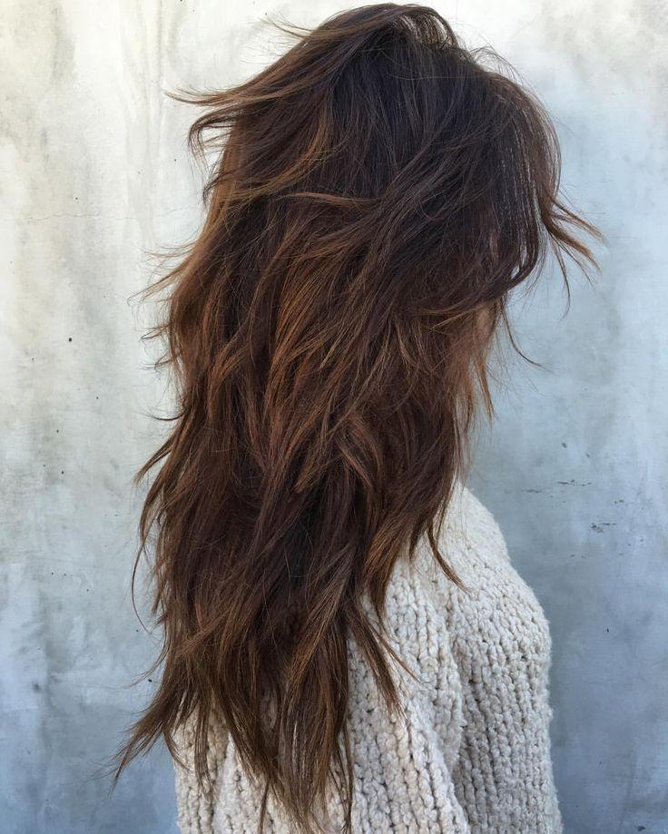 Most Recently Released Heavy Layered Long Hairstyles Intended For Best 25+ Long Choppy Layers Ideas On Pinterest | Long Choppy (View 16 of 20)