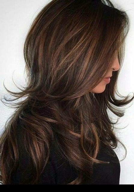 Most Recently Released Heavy Layered Long Hairstyles Regarding 25+ Unique Long Layered Haircuts Ideas On Pinterest | Long Layered (View 17 of 20)