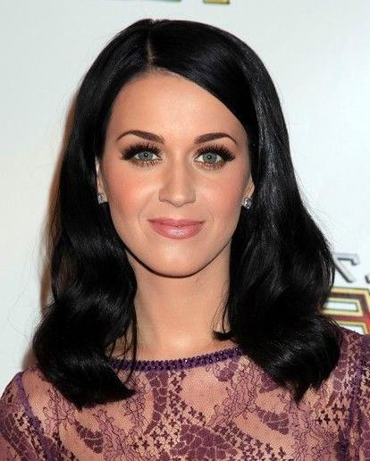 Most Recently Released Katy Perry Long Hairstyles Inside Katy Perry Medium Length Wavy Hair Styles For Black Hair | Wavy (View 7 of 15)