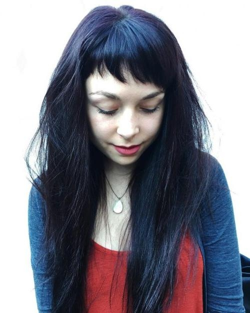 Most Recently Released Long Hairstyle With Fringe With 44 Best Long Hair With Bangs For Women In (View 13 of 20)
