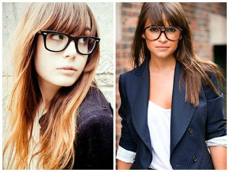 Most Recently Released Long Hairstyles For Girls With Glasses Intended For Best 25+ Bangs And Glasses Ideas On Pinterest | Blunt Fringe (View 9 of 15)