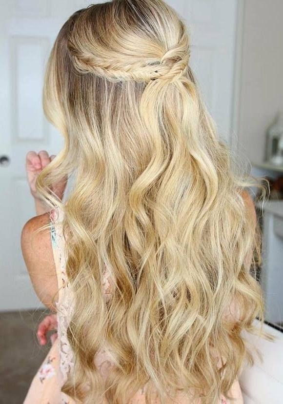 Most Recently Released Long Prom Hairstyles With Regard To Short Hairstyles : Prom Hairstyles For Thick Hair Easy And Simple (View 7 of 20)