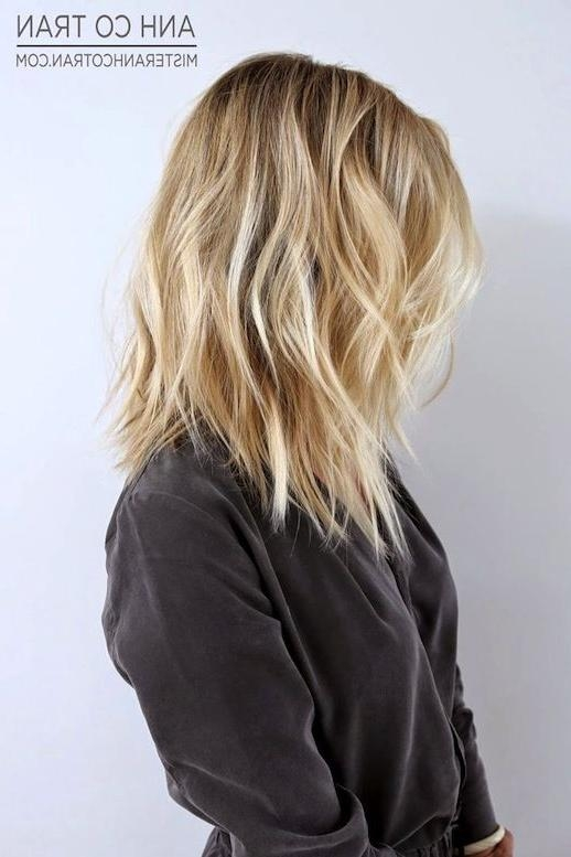 Most Recently Released Textured Long Hairstyles Inside Best 25+ Textured Long Bob Ideas On Pinterest | Medium Hair, Long (View 17 of 20)