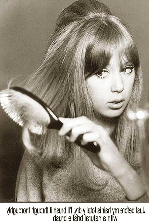 Most Up To Date 1960S Long Hairstyles With Regard To 1960S Long Hairstyle Tips –Sixties Model Pattie Boyd (View 10 of 20)