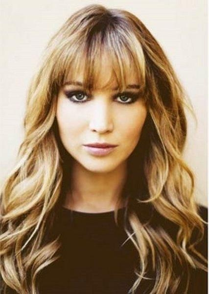 Most Up To Date Curly Long Hairstyles With Bangs Within Best 25+ Bangs Curly Hair Ideas On Pinterest | Curly Bangs, Curly (View 18 of 20)