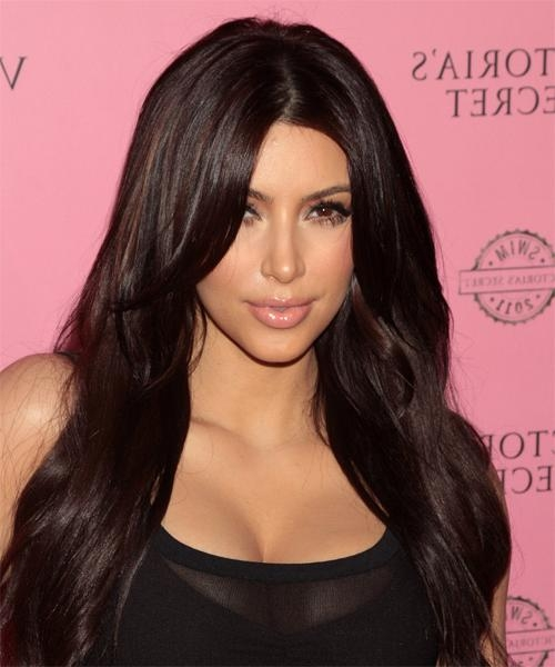 Most Up To Date Kim Kardashian Long Hairstyles Inside Kim Kardashian Hairstyles For 2018 | Celebrity Hairstyles (View 17 of 20)