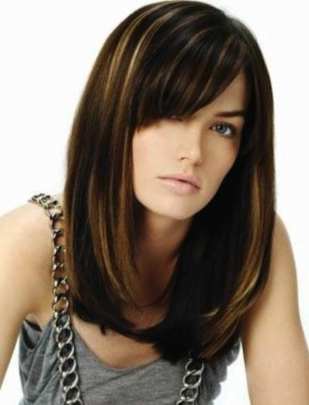 Most Up To Date Long Haircuts With Swoop Bangs Regarding Choppy Fringe Bangs Images About Haircuts On Pinterest Bangs Long (View 14 of 15)