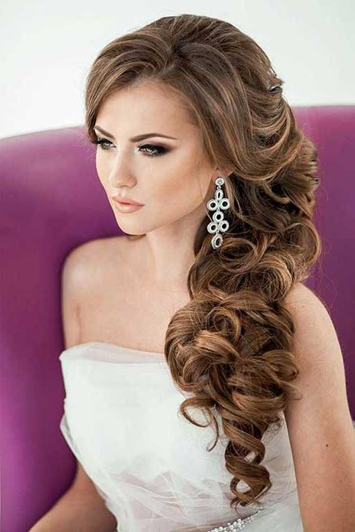 wedding hair side styles 20 best collection of hairstyles to one side 6492