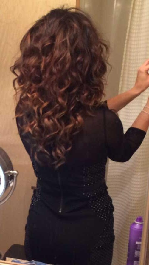 Most Up To Date Long Hairstyles With Layers And Curls Pertaining To 35 Long Layered Curly Hair | Hairstyles & Haircuts 2016 – (View 14 of 20)