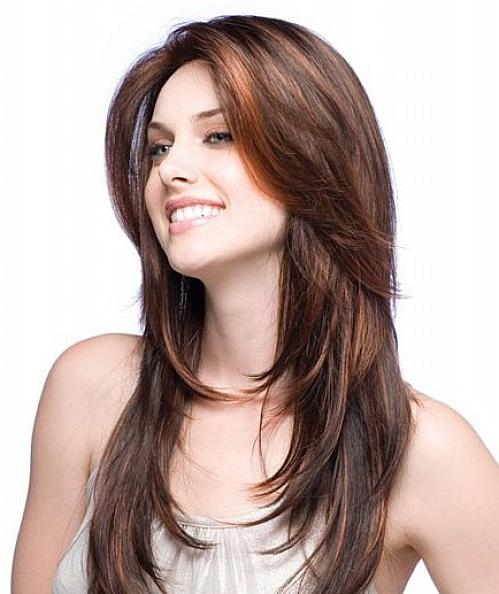 Most Up To Date Long Hairstyles With Side Bangs And Layers With Hairstyles For Diamond Face Shape (View 13 of 20)