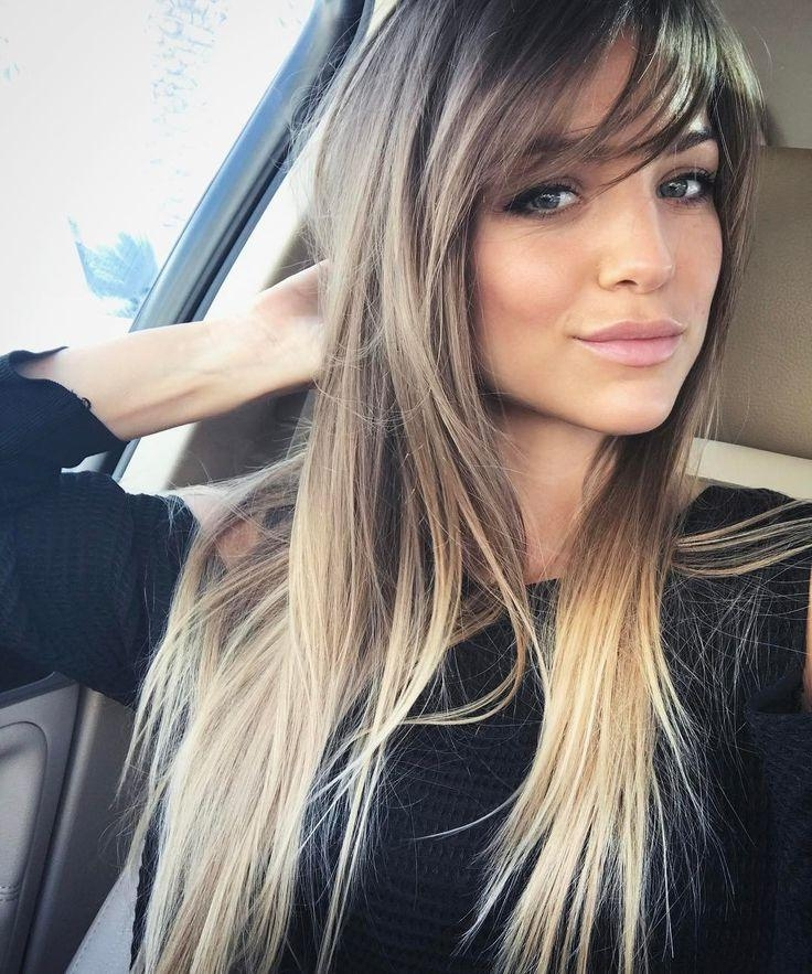 Most Up To Date Side Fringe Long Hairstyles In 25+ Unique Side Bangs Ideas On Pinterest | Side Fringe, Hair Side (View 17 of 20)