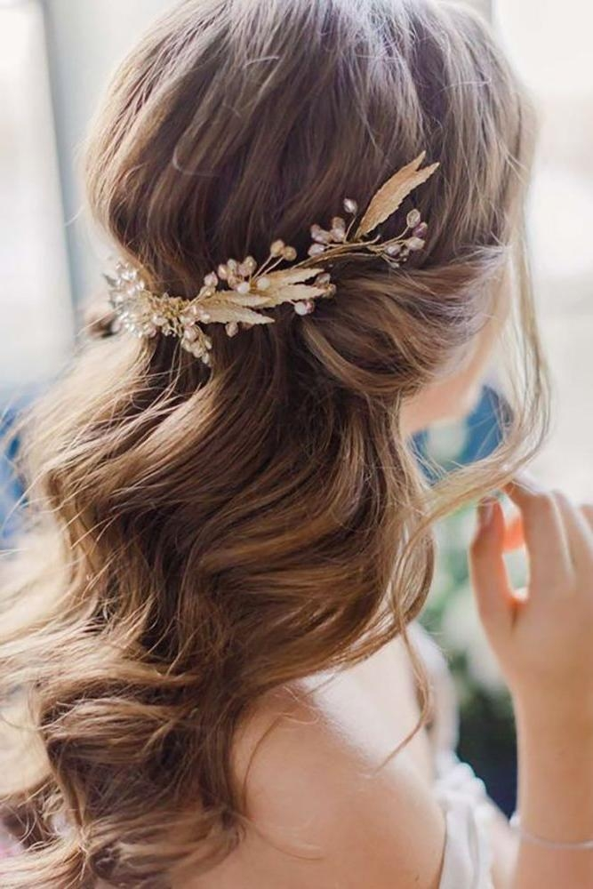 Most Up To Date Wedding Half Up Long Hairstyles Pertaining To Best 25+ Half Up Wedding Ideas On Pinterest | Wedding Half Up (View 15 of 20)